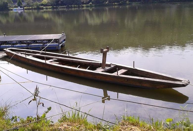 Die Prahm im Wasser - Foto: Pressestelle Uni Trier